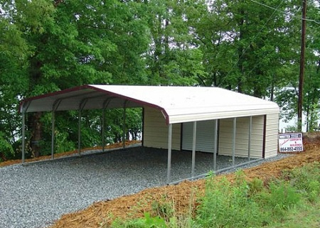 Metal carport with shed attached quotes for Shed with carport attached